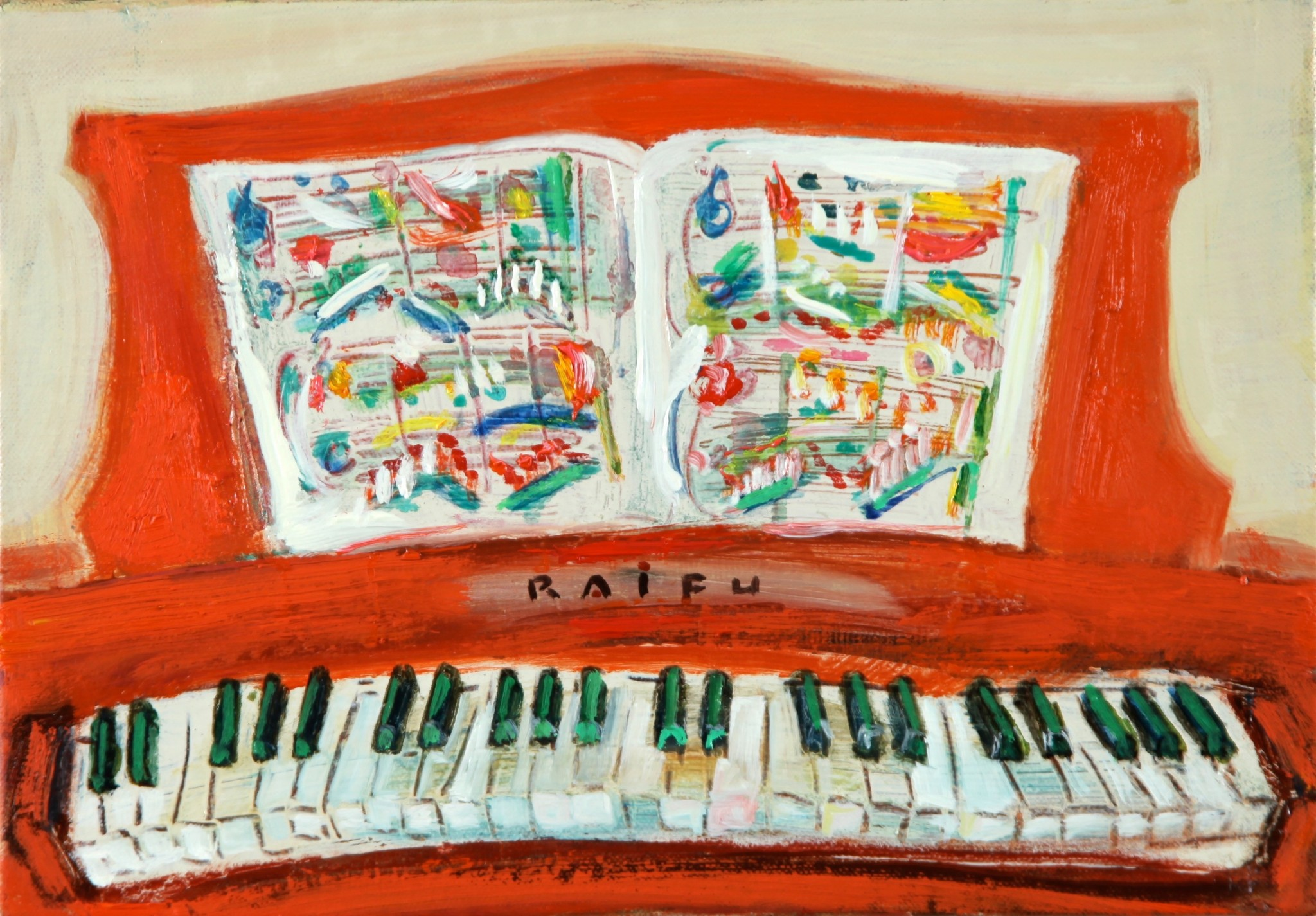 赤いピアノ