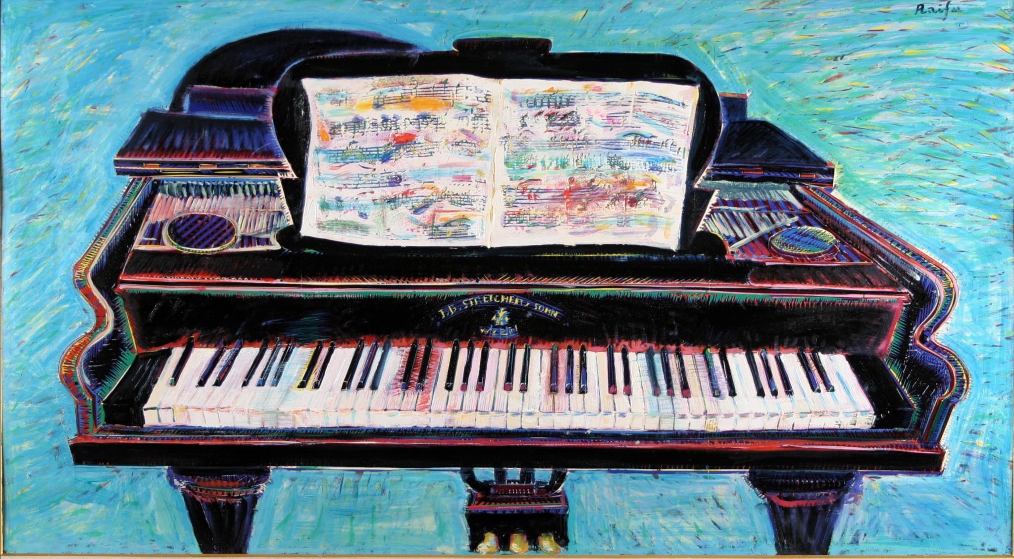 古いドイツのピアノ